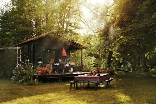Love!-Isabel Marant's Le Shack: Wood, Cottage, Country Home, Isabel Marant, Backyard, Guest Houses, Porches, Outdoor Spaces, Rustic Cabins