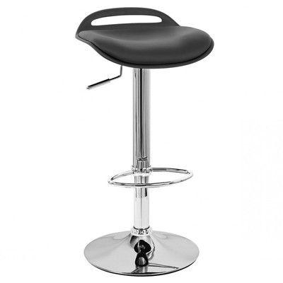 Vandue Corporation Beckham Adjustable Height Swivel Bar Stool Upholstery: Black