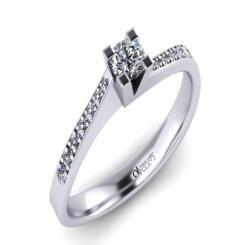 Inel de logodna ATCOM Lux cu diamante MIRUNA aur alb