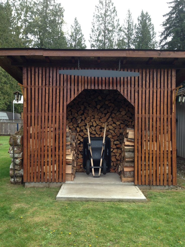 Large fire wood storage