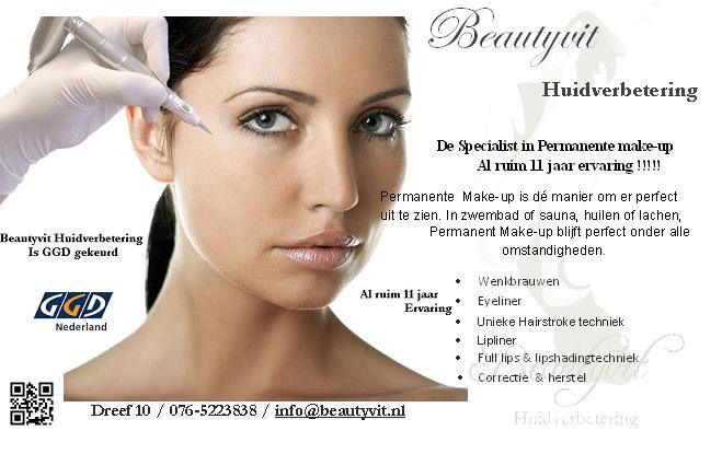 Permanente make-up in Breda bij Beautyvit Huidverbetering .