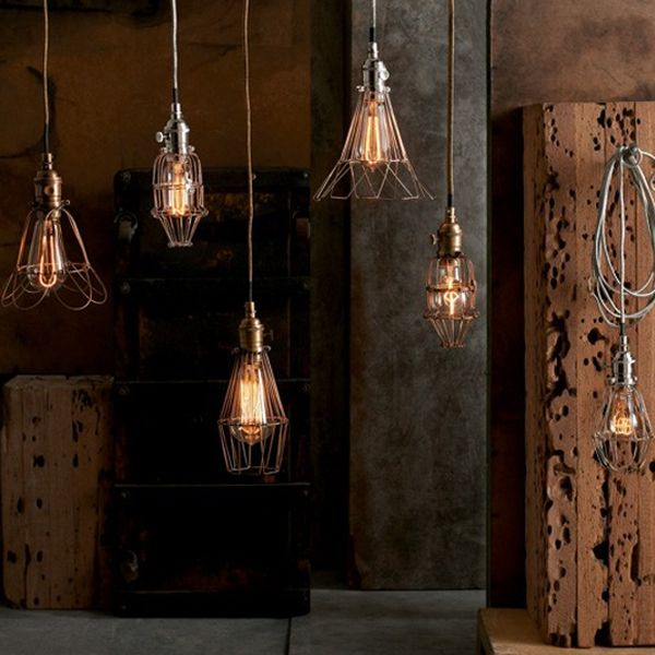 Inspired by the wire caged lights once found in factories  our Workshop  Cage Pendant Lamps36 best Roost Design Home Decor at Iron Accents images on  . Roost Lighting Design. Home Design Ideas