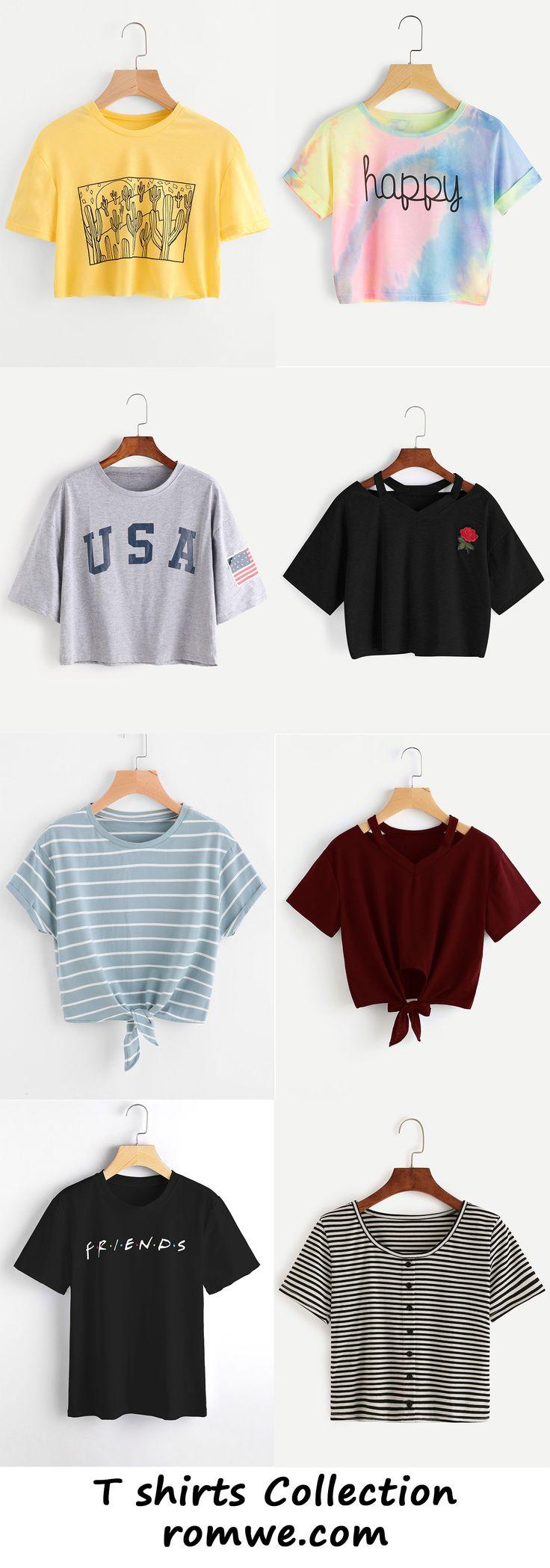 t shirts collection - romwe.com