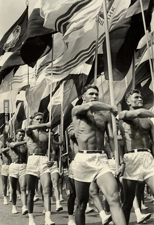 Soviet gym teachers from 1956