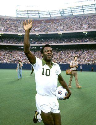 Pele...the GREATEST futbol player.