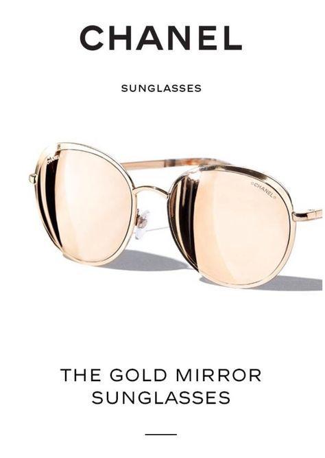 Chanel Gold Mirror Sunglasses (=)