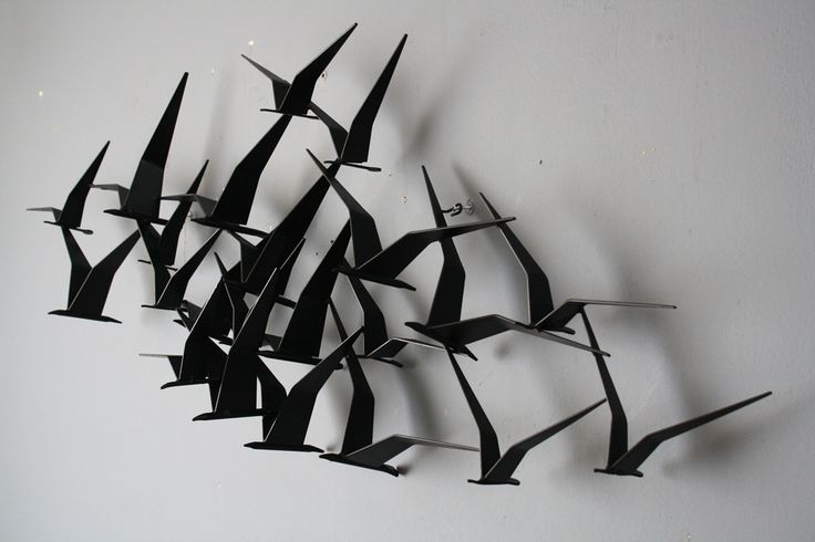 """Metal Bird Wall Art Birds In Flight"""" Metal Wall Art Art ♥  Pinterest  Metal Wall"""