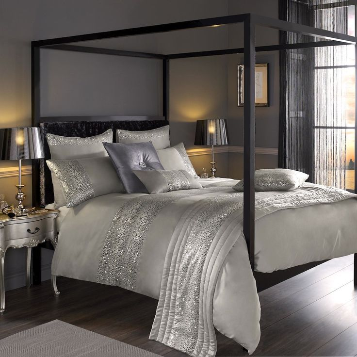 House Of Fraser Bed Linen Sets Part - 48: Kylie Minogue Leopard Silver Full Bedding Set - In A Sophisticated Palette  Of Soft Kitten Grey, This Bed Linen Features A Stunning Animal Design  Printed ...