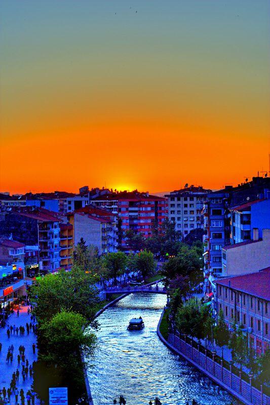 Sunset in Eskişehir...