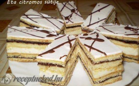 Citromos-szilvalekváros süti recept fotóval
