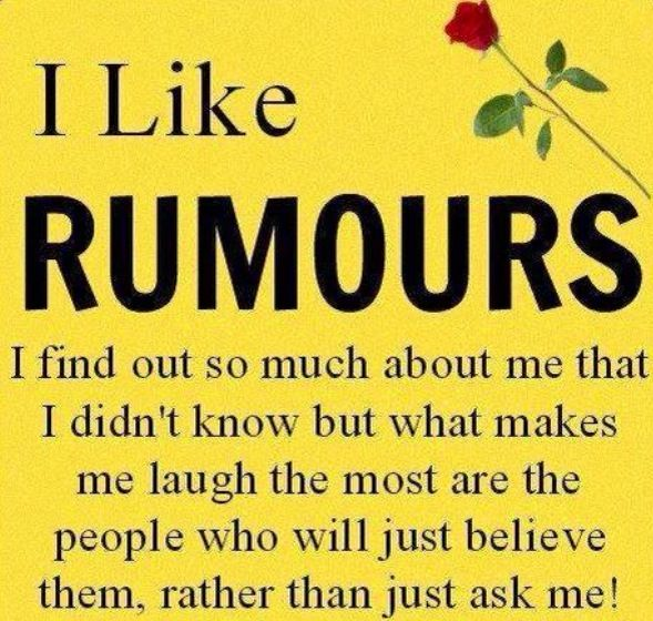 Rumors gossiping