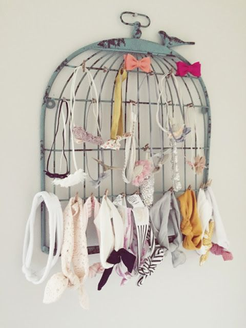 Great accent for a vintage style little girl's room #nursery #babygirlnursery