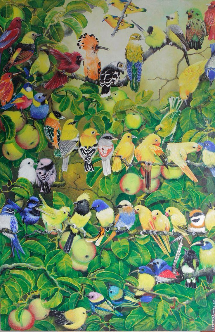 Multiracial Harmony Larry Carumba Acrylic on Plywood