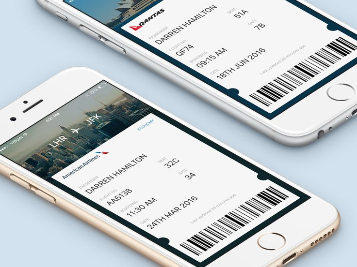 Daily UI 024 - Boarding Pass by Rick Butterworth