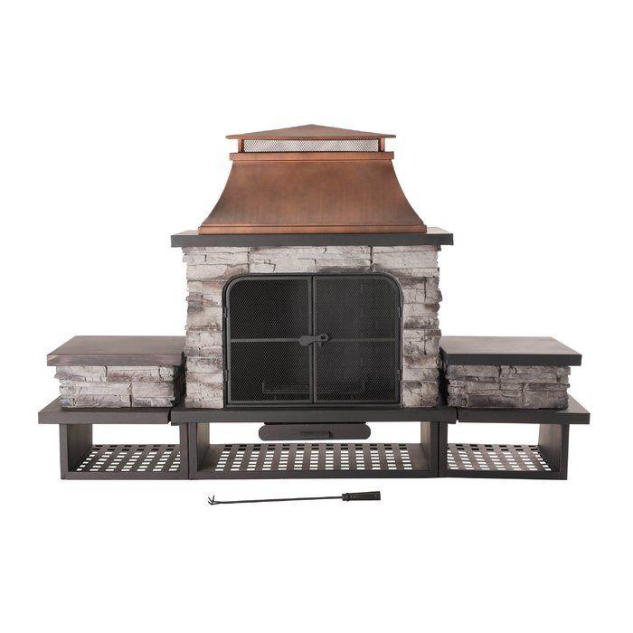 Sunjoy Connan Steel Wood Burning Outdoor Fireplace Reviews