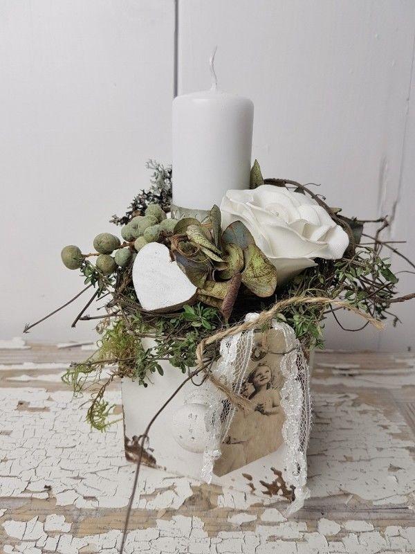 Holzkistchen ♥Herbsthübsch♥ kleines schwedenhaus Herbstdeko Hortensie Tischdeko | eBay