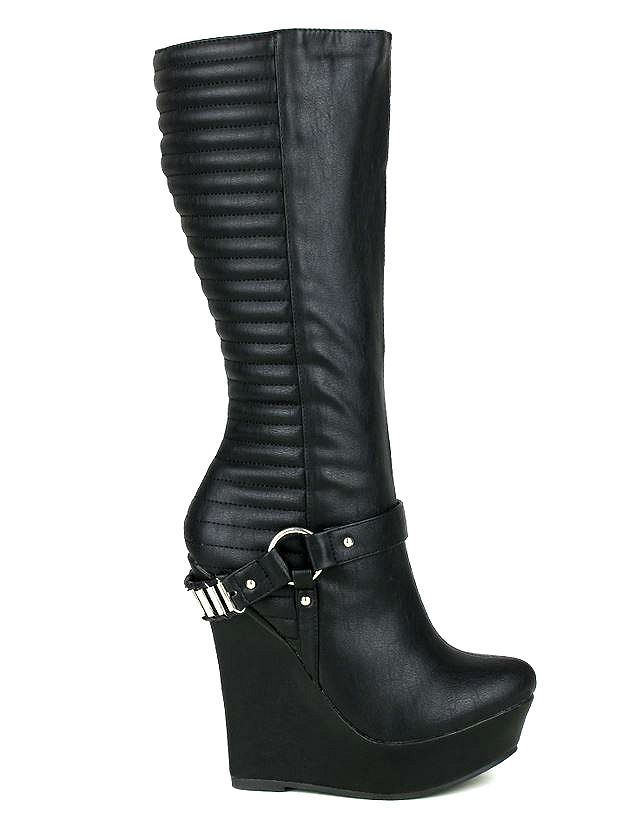 best 25 knee high wedge boots ideas on high