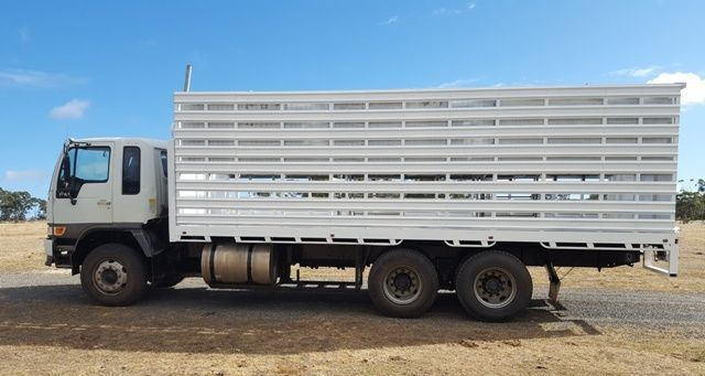 Hino FM 2001 6x4 axle grouping Truck & cattle/sheep crate.(Double Deck) #TrayTrucks