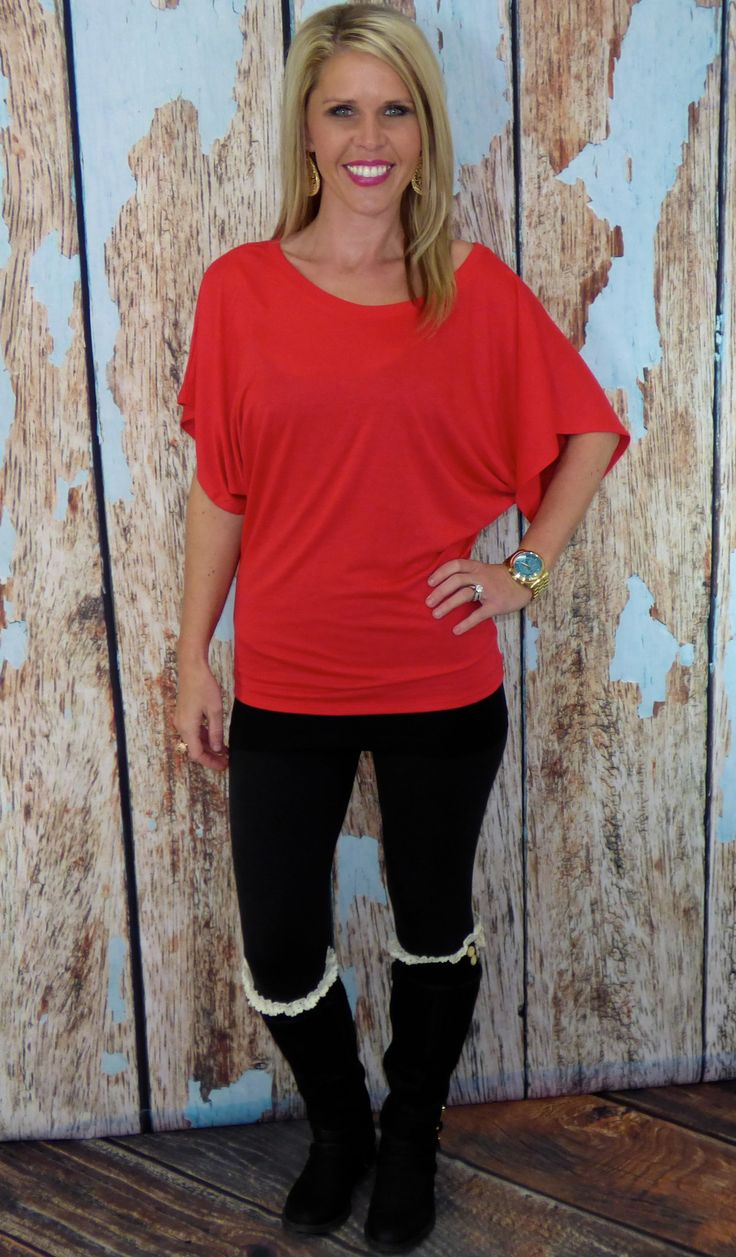 Everyone needs a dolman top in their life! Dolman tops are flattering on all body types with a laid back look but can be dressed up. 65% polyester 35% viscose