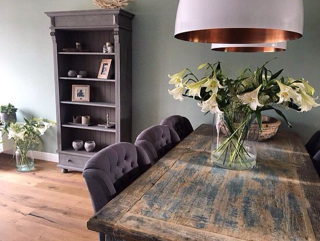 Stunning dinning room #pureandoriginal #painted #kast #cupboard