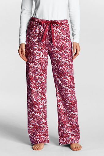 Women S Pattern Flannel Pajama Pants From Lands End
