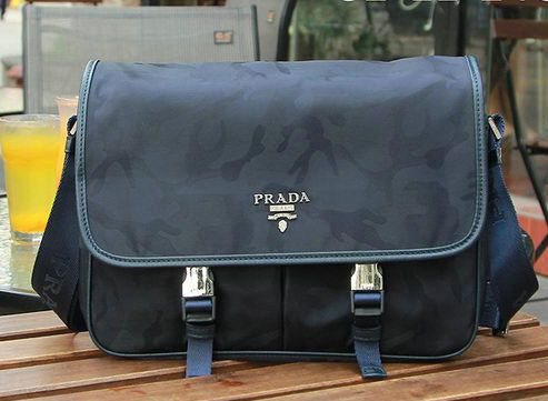 Prada Nylon Fabric Messenger Bag VA0768 Royal