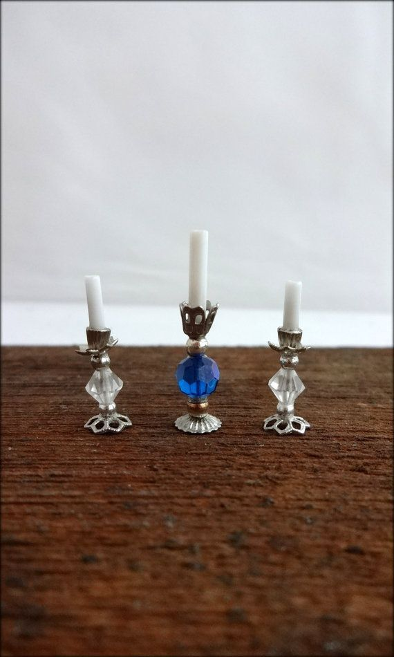 beaded dollhouse  | Vintage miniature beaded dollhouse candlesticks by TheMagickAttic, $9 ...