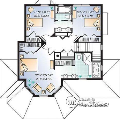 Étage Maison craftsman, 3 chambres, foyer au séjour, suite des maîtres originales - Maybloom