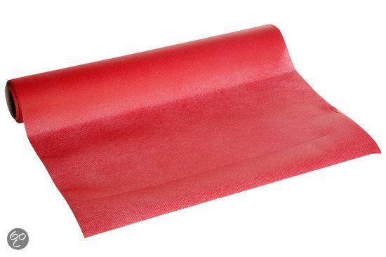 Cosy&trendy Tafelloper - Rood - Papier