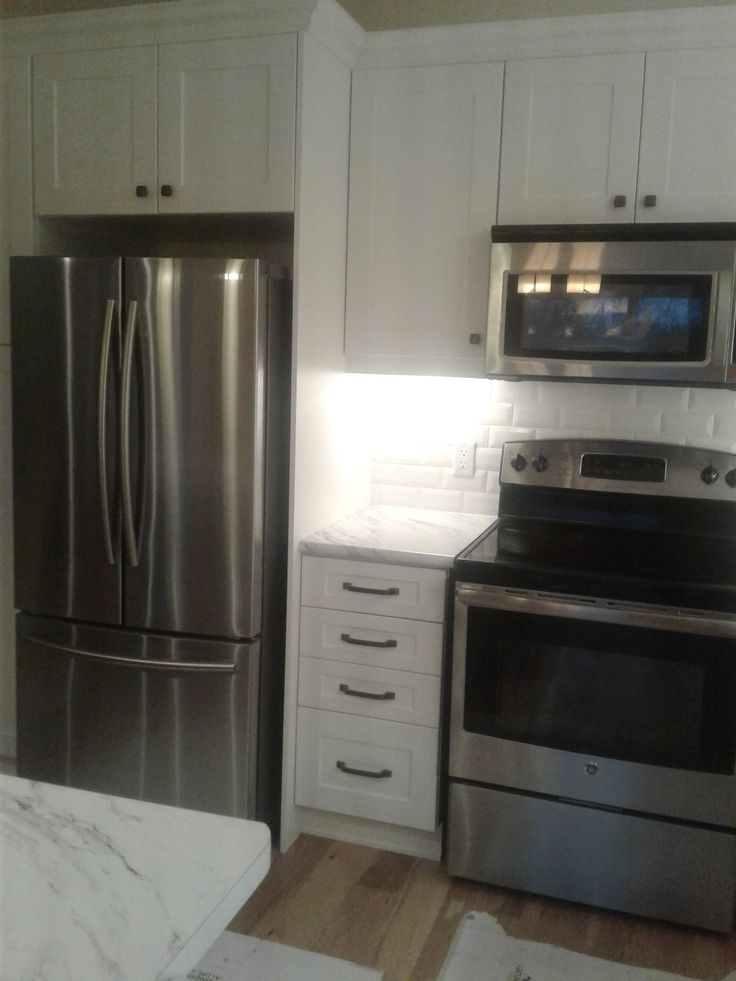 Samsung Fridge $1199, GE stove $498, OTR microwave $199 and diswaher not pictured $450.  In Canada these are good sale prices.