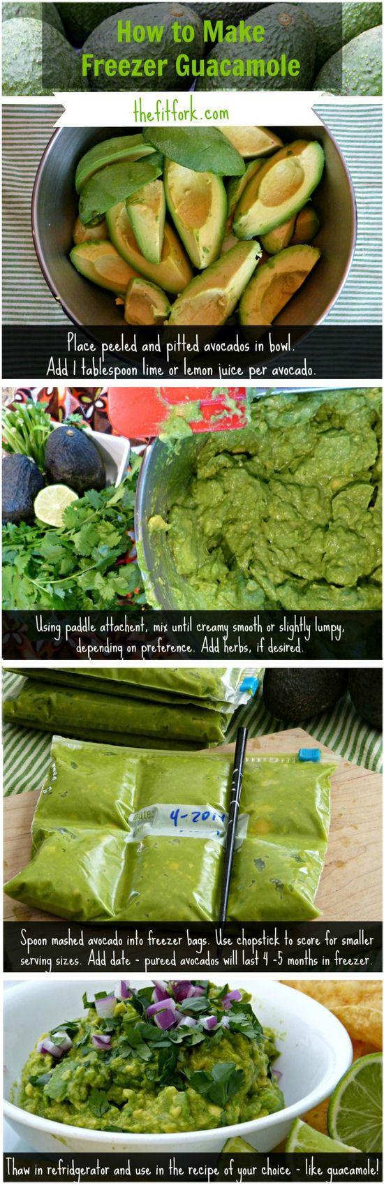 Guacamole - How to Freeze  ____________  http://thefitfork.com/avocadomg-how-to-freeze-guacamole/