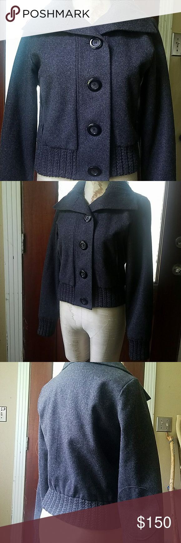 Beautiful wool coat For sale is this beautiful gray wool winter coat by White Rivet (Macy's) originally paid $350 and only wore once. Is a size medium. No rips or stains, a true beautiful piece! Dry clean only. Smoke free home. Jackets & Coats Pea Coats