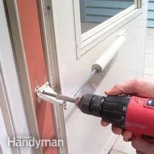 FamilyHandyMan shows how to fix a storm door closer that's getting caught in the wind.