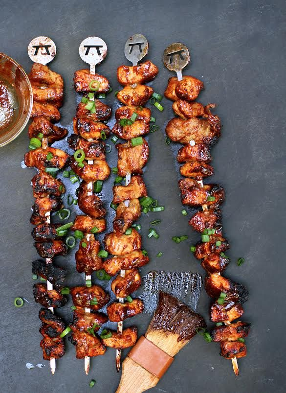 Grilled kebabs with hoisin and five-spice