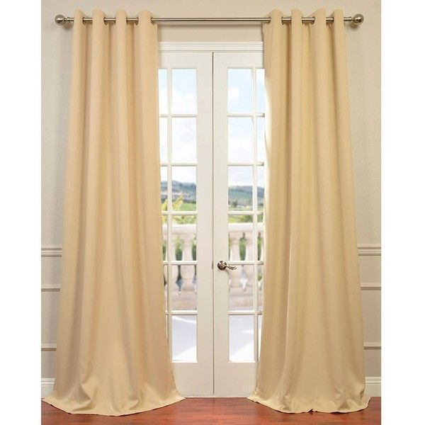 Exclusive Fabrics Biscotti Thermal Blackout Curtain Panel Pair ($91) ❤ liked on Polyvore featuring home, home decor, window treatments, curtains, brown, blackout curtain panels, thermal window curtains, grommet window curtains, brown blackout curtains and brown window curtains