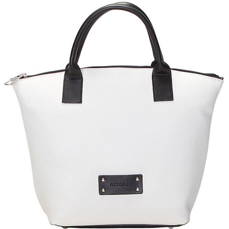 Natural leather handbag with handles and zip fastener, inside pocket and lining inside. The shape and the simplicity of its colors create a classical handbag, suitable also for formal situations. All City handbags can be purchased with matching shoes. Colors ice and black and pattern plain.