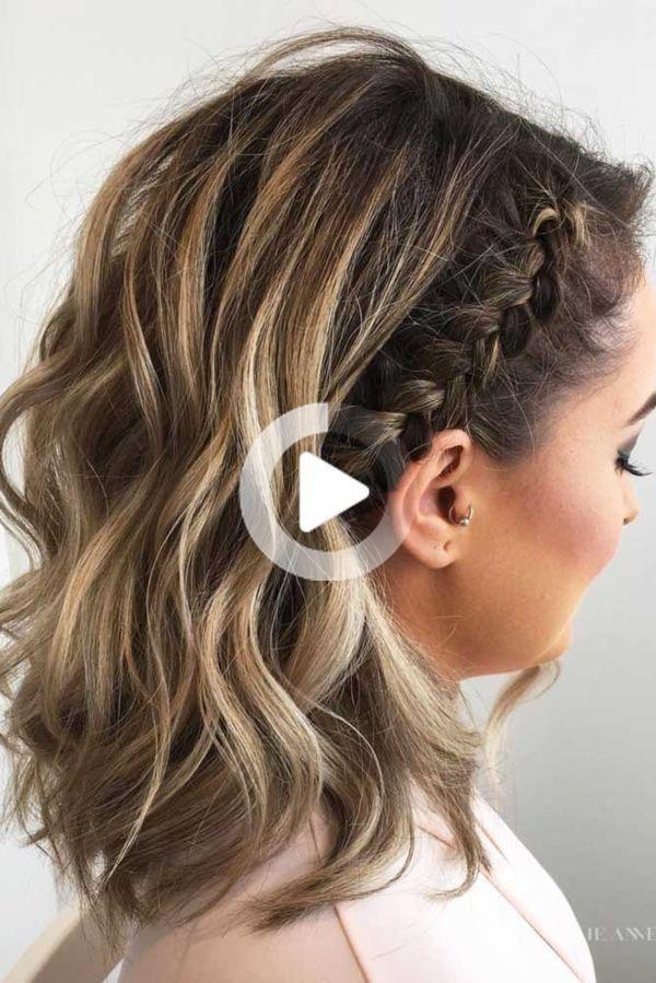 Coiffures Cheveux Courts Les Plus Belles Photos De Coiffures Coiffure Facile Tresses Pour Cheveux Courts Coiffures Simples