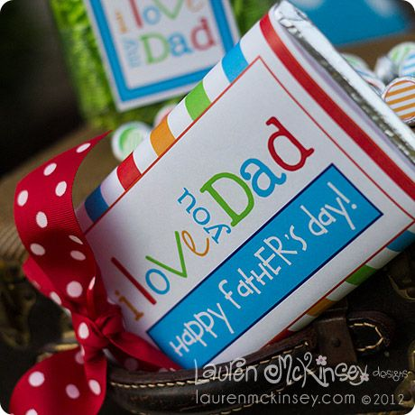 happy father's day candy bar wrapper - free