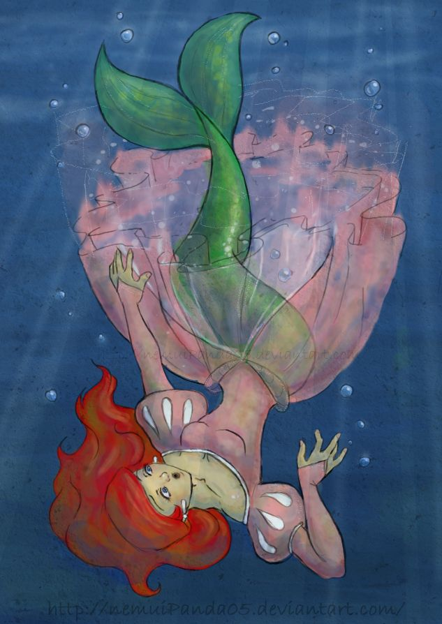 Ariel for BluChaotic by ~nemuiPanda05 on deviantART | Kind of ties into Disney and the original story.