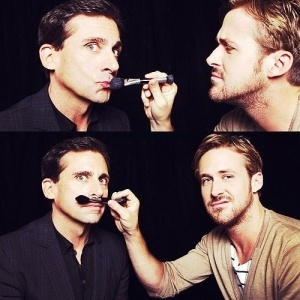 Steve Carell and Ryan Gosling - I don't know what's going on here but I love it...