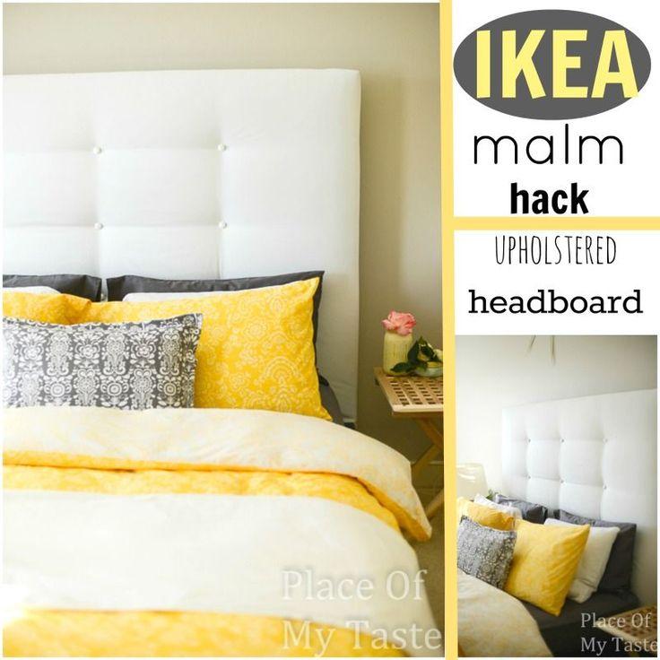 UPHOLSTERED HEADBOARD-IKEA MALM HACK