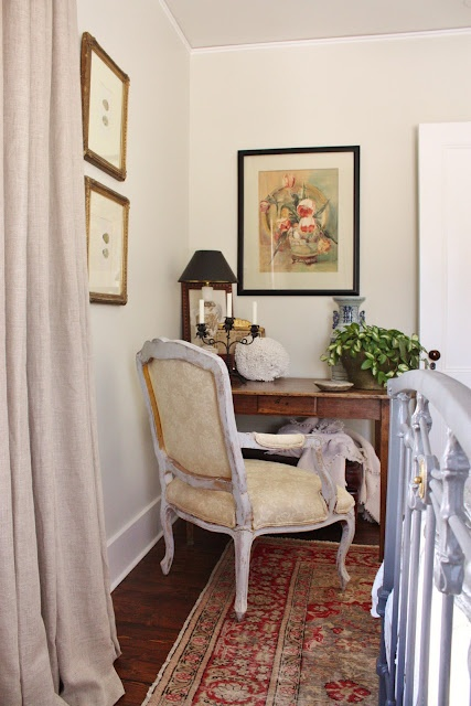 Benjamin Moore Misty Air With White Dove Trim Via For