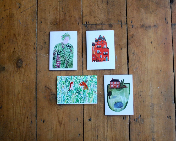 Four Paintings Card Pack. £5.50, via Etsy.