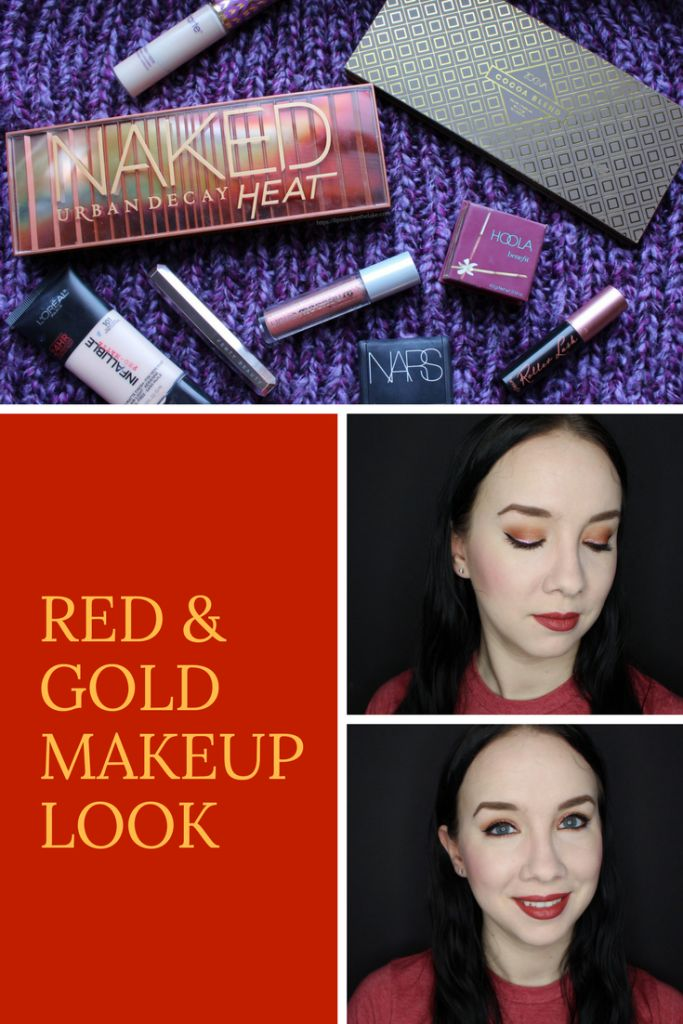 Red & Gold Makeup Look using Zoeva Cocoa Blend Palette