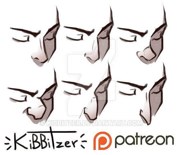 Noses Reference sheet by Kibbitzer.deviantart.com on @DeviantArt