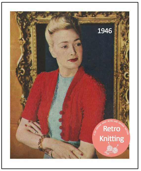 1940s Cable Boleo Knitting Pattern  Instant by MyVintageWish