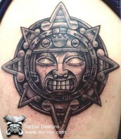 Aztec Sun Tattoo » ₪ AZTEC TATTOOS ₪ Aztec Mayan Inca Tattoo Designs Instant Download