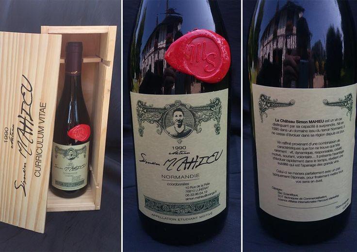 modele cv original bouteille de vin