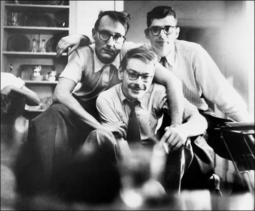 William S. Burroughs, Lucien Carr, and Allen Ginsberg.