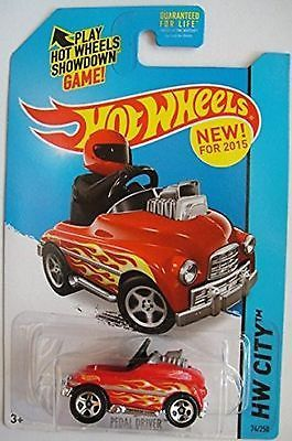 2015 Release Hot Wheels set of 2 City Pedal Driver (Red) 74/250